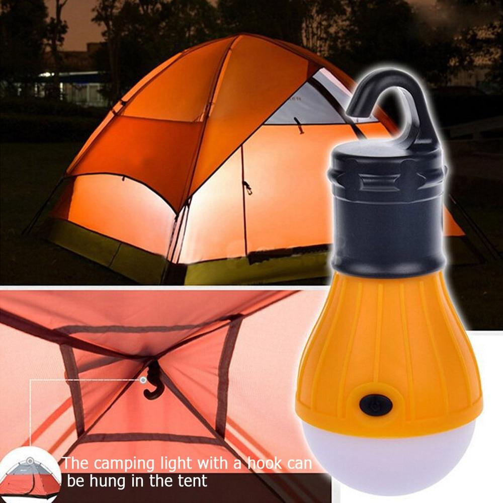 4.5V 3 LED Portable Emergency Camping Tent Soft Light Outdoor Waterproof Mini LED Bulb Fishing Hiking Energy Saving Night Light