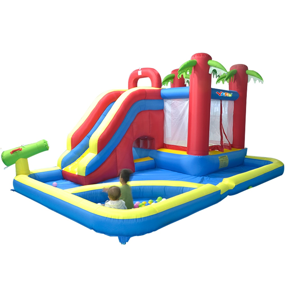 YARD Inflatable Slide Castle Jumping House Use 4.7*3.1*2.3M Water Trampoline For Children Inflatable Water Slide Bouncy Castle yard bouncy castle inflatable jumping castles 3 5 3 2 7m trampoline for children house inflatable bouncer with slide blower