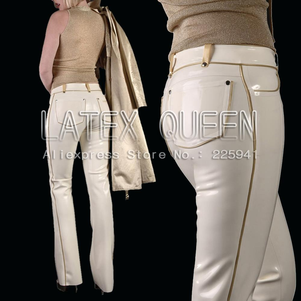 attractive rubber trousers heavy latex 0.6 mm thickness Women 's jeans