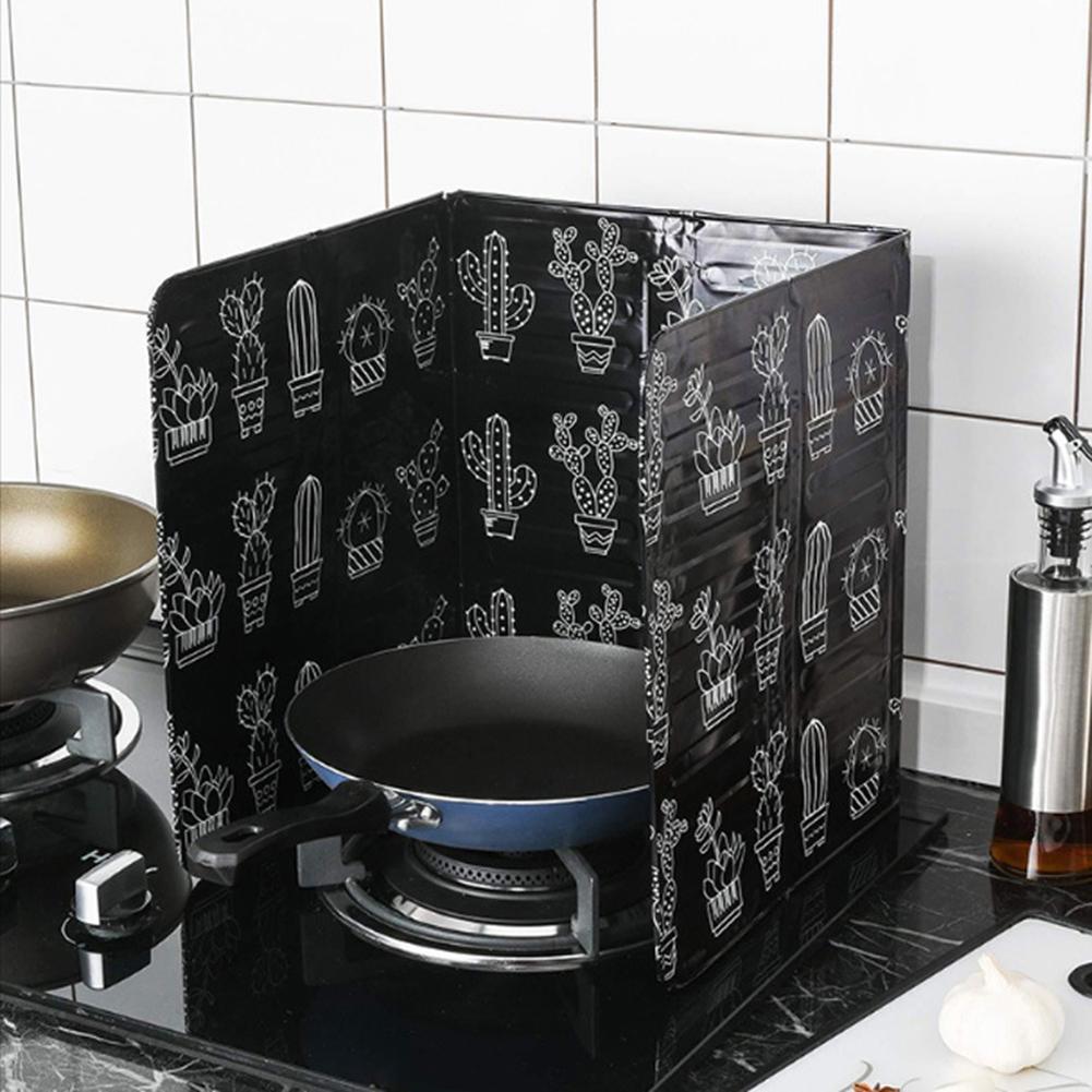 1 ud. Protector de escudo antisalpicaduras de papel de aluminio, separador de aceite, herramienta deflectora a prueba de salpicaduras, cocina, aceite de cocina, protector de salpicaduras, estufa de Gas