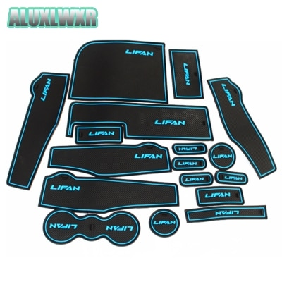 2016 2017 2018 Gate Slot Cup Mat Storage Luminous Model 17PCS Car Accessories Free Shipping Fit for Lifan Marveii Myway Rubber ручка двери внешняя для lifan myway 2017