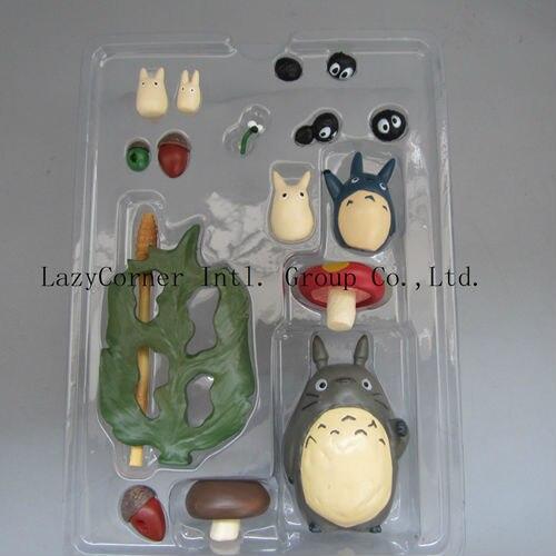 Kostenloser Versand Anime Figur Totoro PVC Abbildung Modell Spielzeug Set mit Original Box Beste Geschenk für Kinder