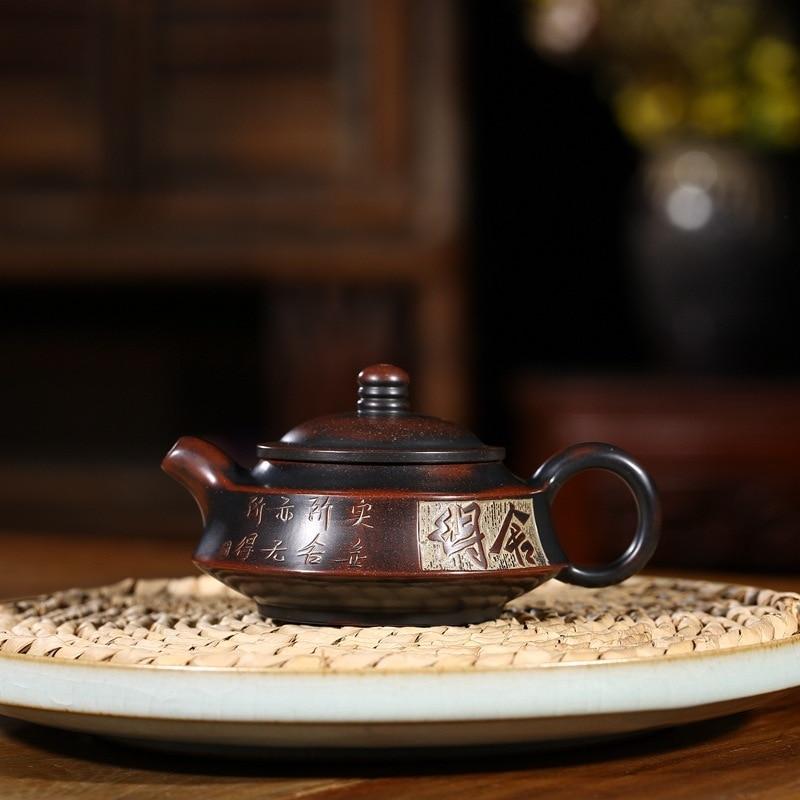 أوصى Yixing جميع اليد منحوتة مزدوجة رسم الأواني المنزلية نيشينغ الفخار لتشو عموم إبريق الشاي دفعة خاصة