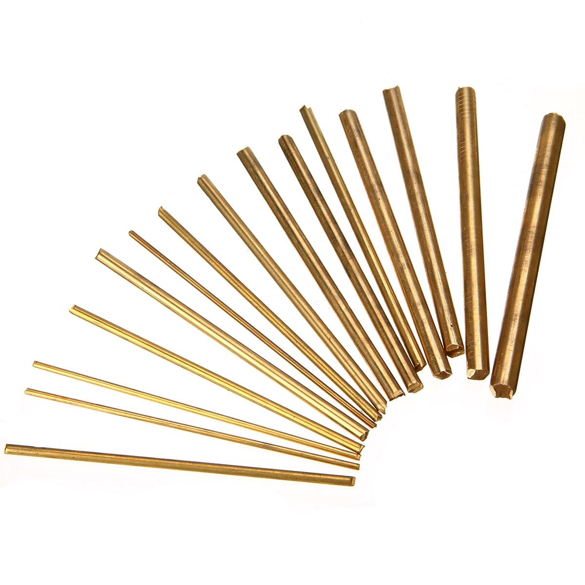 15 pçs de cobre latão redondo hastes eixos barra relógio torno ferramenta artesanato peças mayitr para diy artesanato fazendo 100mm comprimento