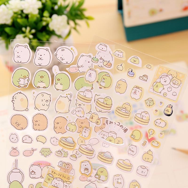 adesivos criativos coreanos de papelaria rolo redondo de coelho padrao decorativo