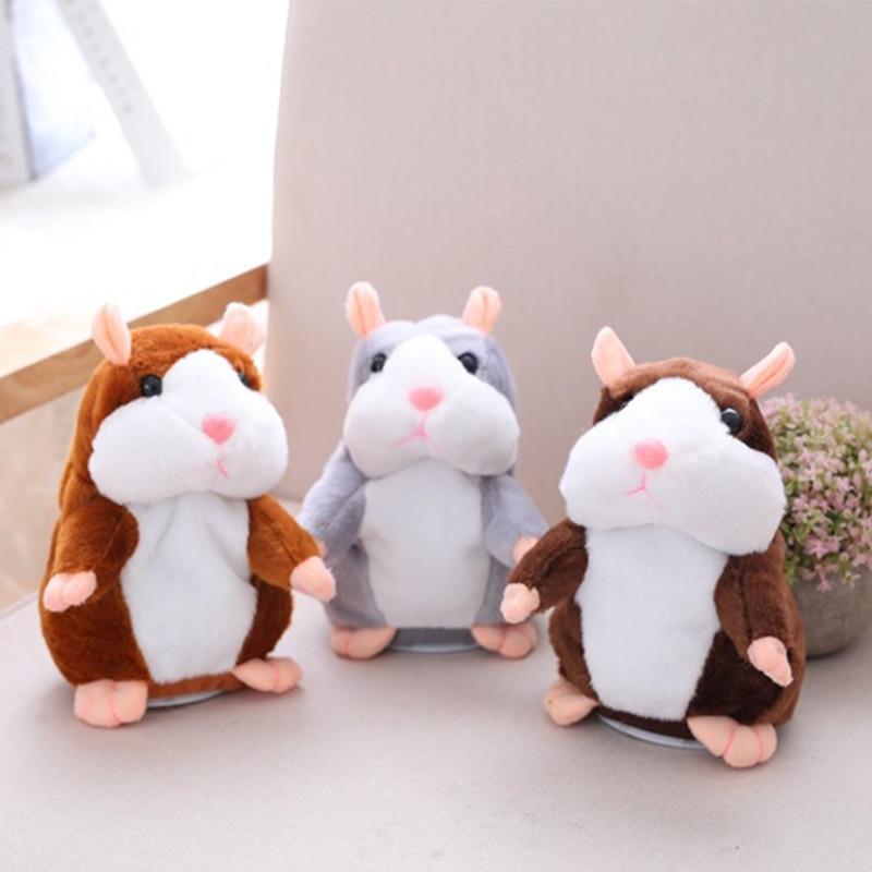 Dropshipping Talking hamster Kid toys Plush 15 cm Sweet Speak Sound Recording Repeat Plush kawaii hamster animal Toys