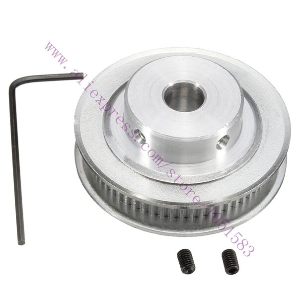 2 uds., poleas de correa de distribución GT2, 60 dientes, 5mm o 8mm de diámetro exterior, opcionales para RepRap Prusa Mendel, piezas de impresora 3D