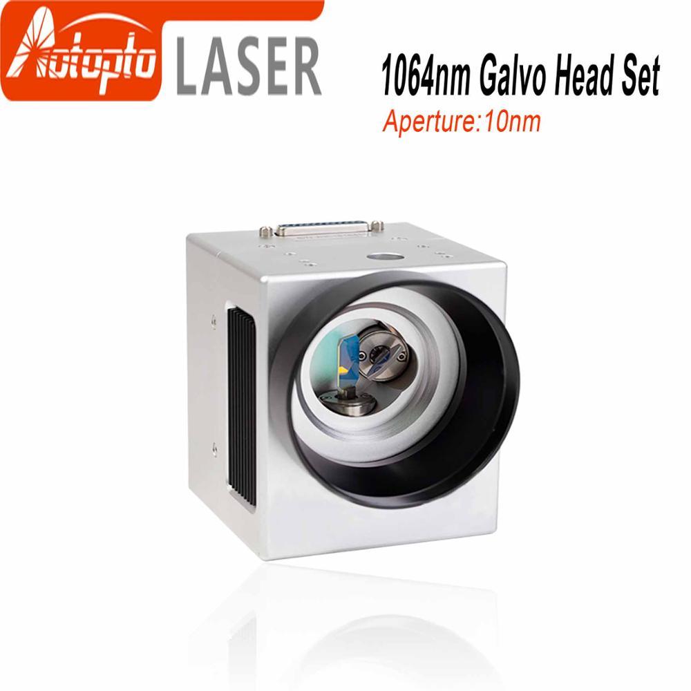 1064nm Fiber Laser Scanning Galvo Head Input Aperture10mm Galvanometer Scanner with Power Supply Set 20kpps laser scanning galvo scanner ilda closed loop max 30kpps for laser 3d printer
