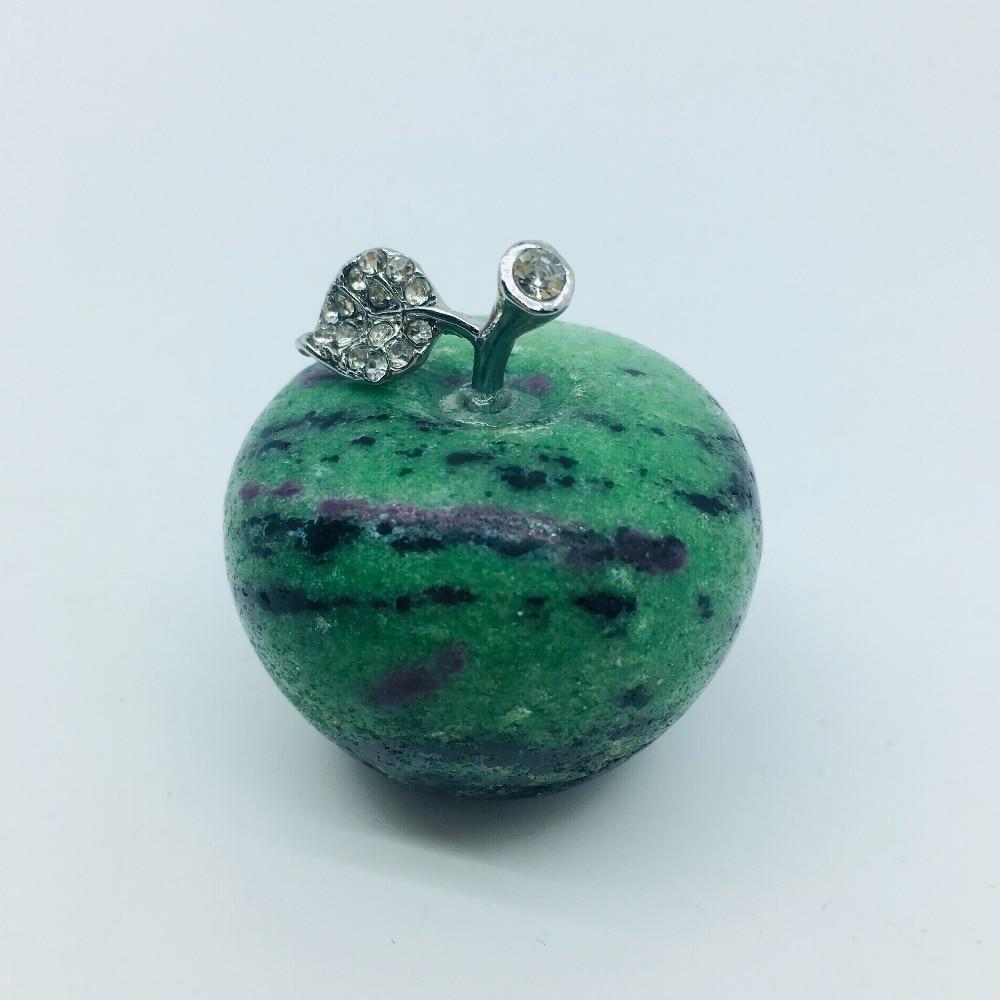 Cristal natural rojo verde tesoro manzana cara sedosa, es la decoración del hogar de la boda primera selección artesanía