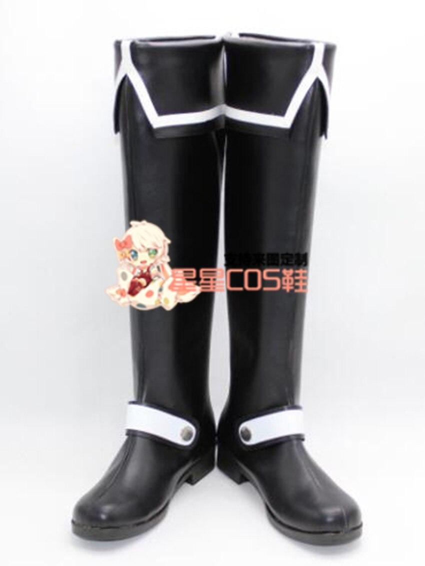 D gris-hombre Allen Walker adulto Halloween Cosplay zapatos botas X002
