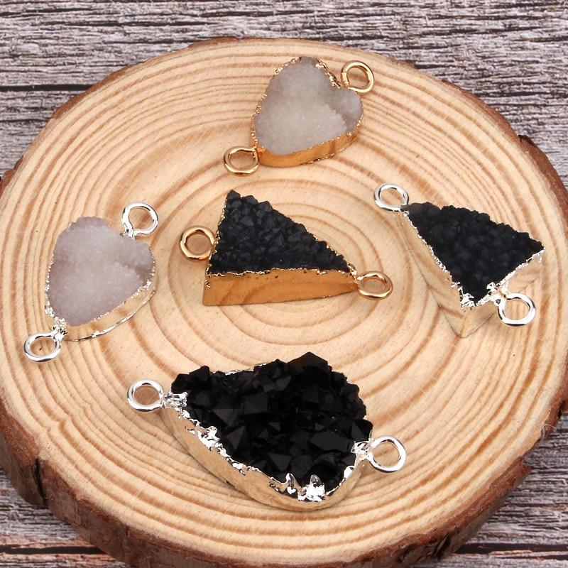 2pcs Dreieck Waterdrop Unregelmäßigen Harz Anschluss Erkenntnisse Diy Handwerk Halskette Armband Choker Handgemachte Schmuck Zubehör F49