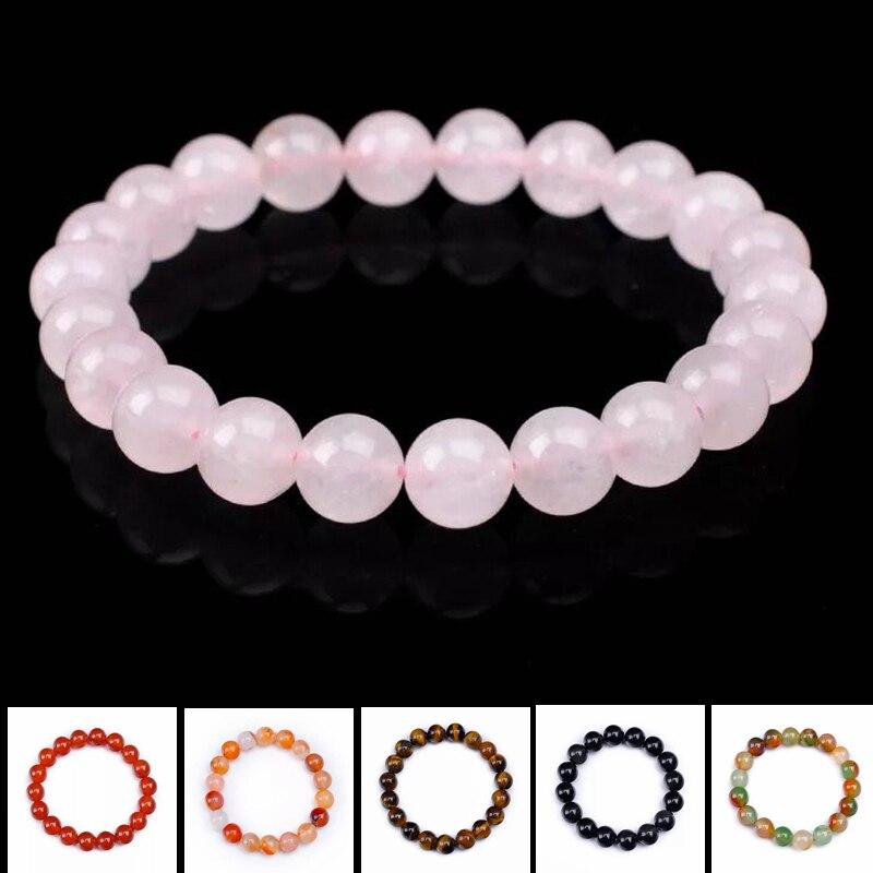 Natural ágata cristal chakra pulseira masculino lava preta cura equilíbrio contas reiki buda oração âmbar pedra yoga pulseira feminino