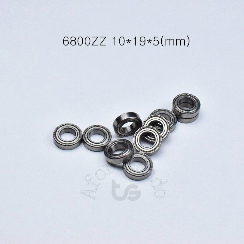 6800ZZ 10*19*5 (мм) 10 шт. Бесплатная доставка подшипник ABEC-5 6800 6800ZZ хромированная сталь подшипник металлический герметичный подшипник 61800