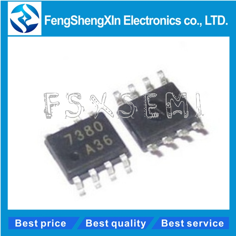 100 pçs/lote FAN7380MX FAN7380 7380 SOP-8 Ponte chip de unidade