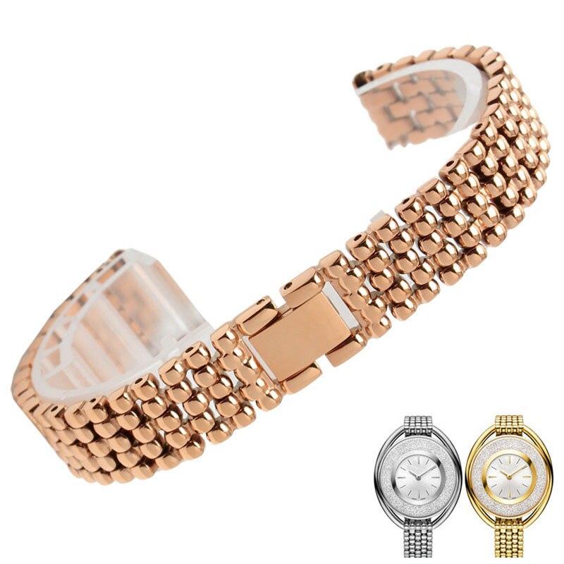 Браслет для наручных часов из нержавеющей стали 12 мм сменный ремешок для часов женский браслет + инструменты 5158548 515854