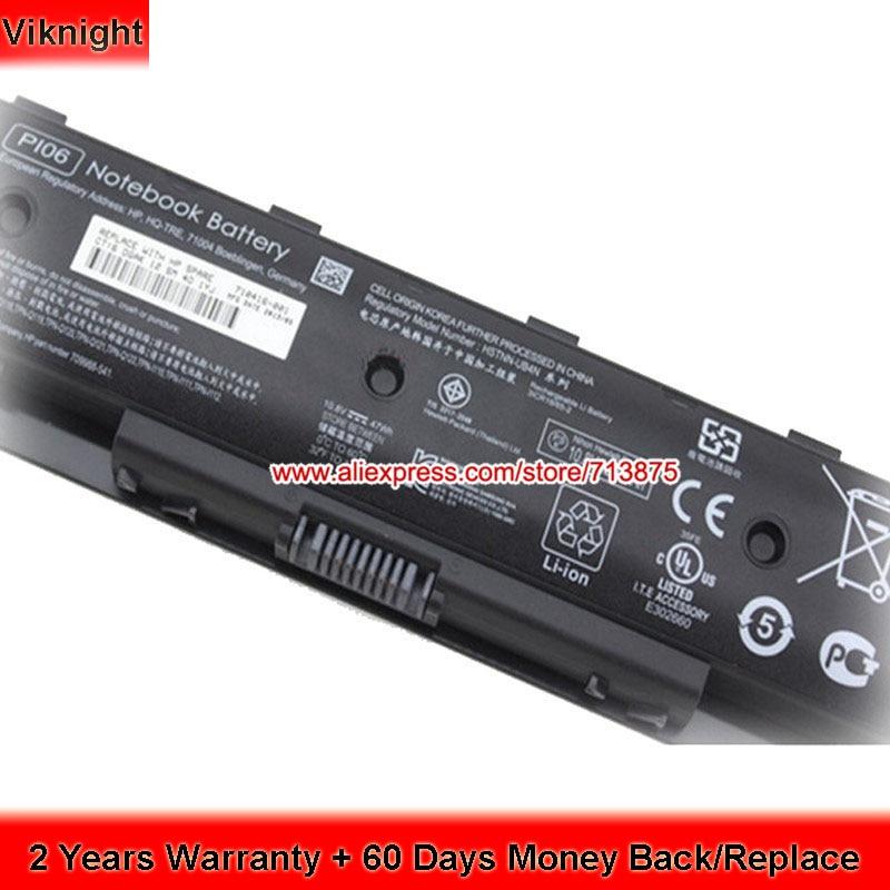 High Quality 709988-421 710416-001 Battery for Hp Envy 17 PI06 PI06XL PI09 PL06 TPN-Q120 TouchSmart 14 Spare H6L38AA HSTNN-YB4O
