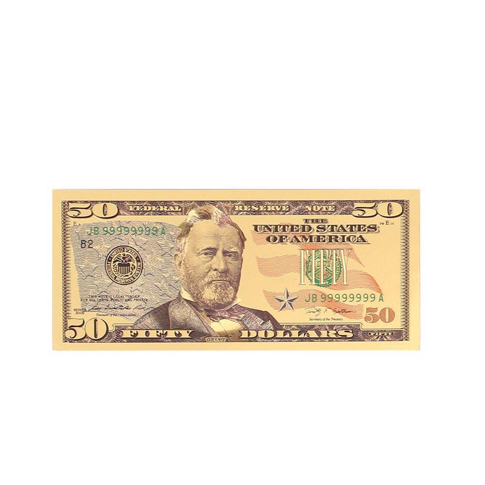 8pcs Commemorative Notes 8pcs/Set USA Souvenir Antique Plated Gold High Quality 1 2 5 10 20 50 100 Dollar Realistic Fake Money