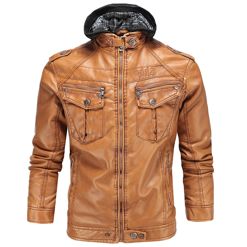2017 الرجال فو سترات من الجلد تظهر الأوروبية العلامة التجارية مقنعين الرجال جلد الغزال 3XL الشتاء الدافئة الرجال مايكل جاكسون جاكيتات S239