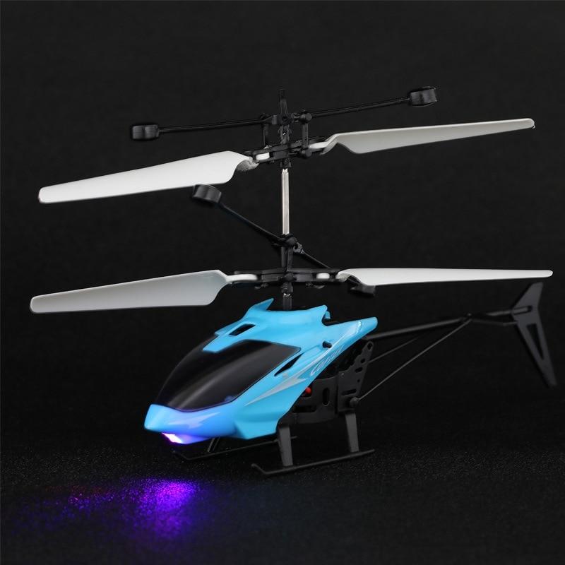 Мини-Дрон Летающий вертолет светодиодный мигающий светильник инфракрасная индукция Дрон детские игрушки летательный аппарат USB зарядка пульт дистанционного управления игрушка мальчик подарок
