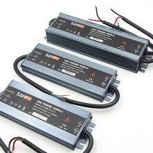 Led su geçirmez AC DC Güç Adaptörü Kaynağı ultra ince 12 V 24 V 200 W LED sürücü dönüştürücü led şerit reklam ışık tabelaları