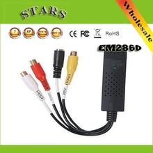 DC60 USB 2.0 USB2.0 carte vidéo Capture grabber carte convertisseur DVD VHS TV carte adaptateur avec chipset EM2860 + SC7113 + ALC202A Win7