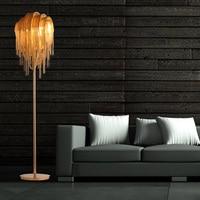 Aluminum Floor Light Metal Silver /Gold Floor Lamp Standing Light For Living Room Bedroom Decorative Home Lighting FA011