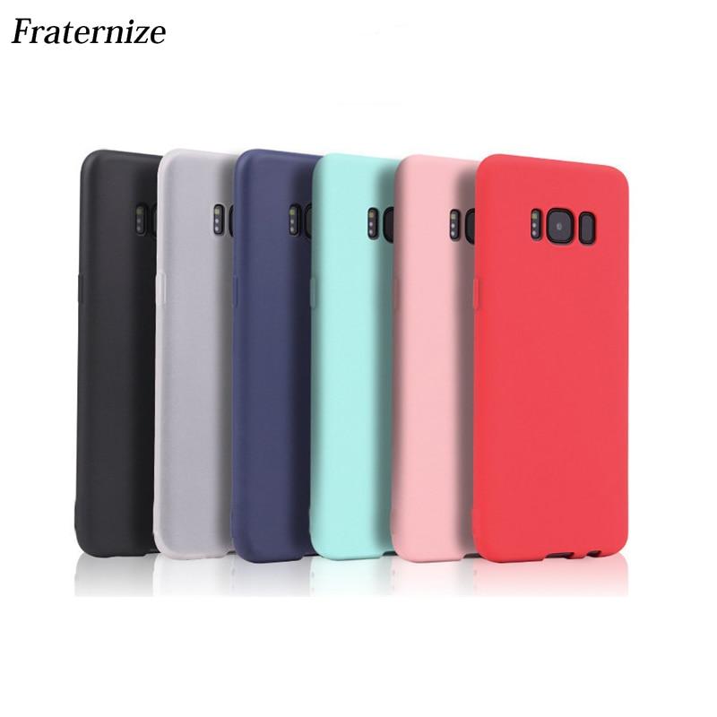 Mate de silicona suave funda para Samsung Galaxy S8 más S5 S6 S7 borde A3 A5 A7 2016 J3 J5 J7 2017 Nota 8 5 4 3 dulces colores TPU caso