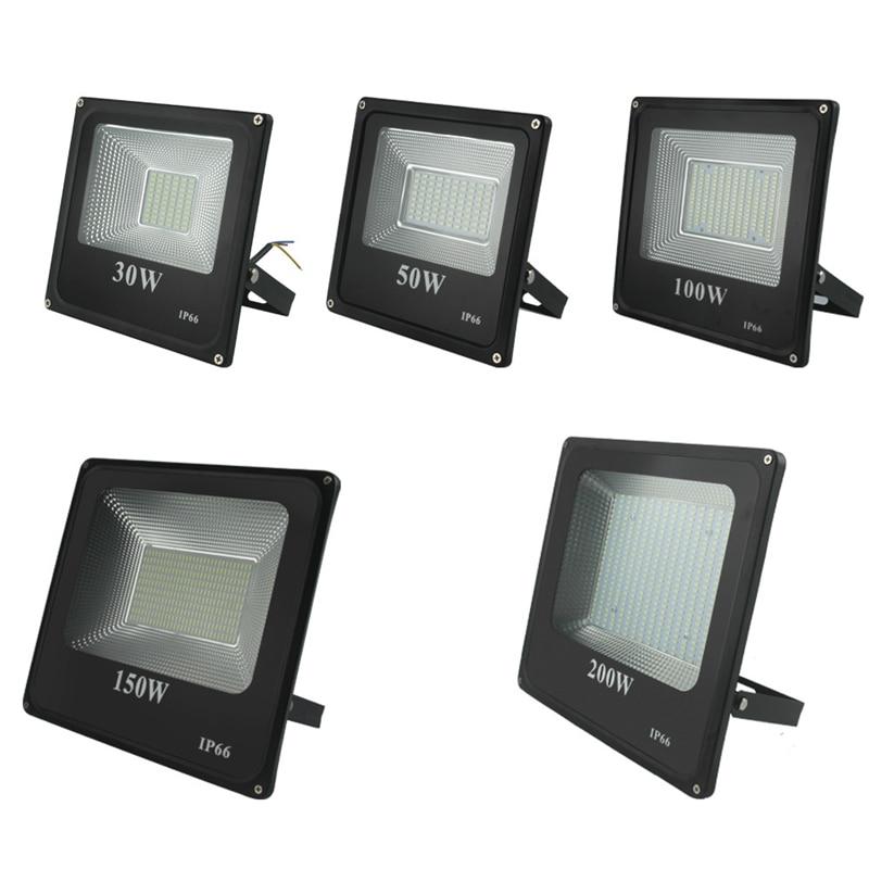 Luz de inundación Led 220v 240v 30w 200w 300w 400w 600w de iluminación al aire libre para proyector lámpara reflectora Led 50w punto Exterior Led Exterior