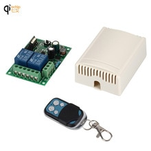 Универсальный беспроводной пульт дистанционного управления, 433 МГц, 85-250 в перем. Тока, 110-220 В, 2 канала, релейный приемник, модуль и Радиочастотный пульт дистанционного управления 433 МГц