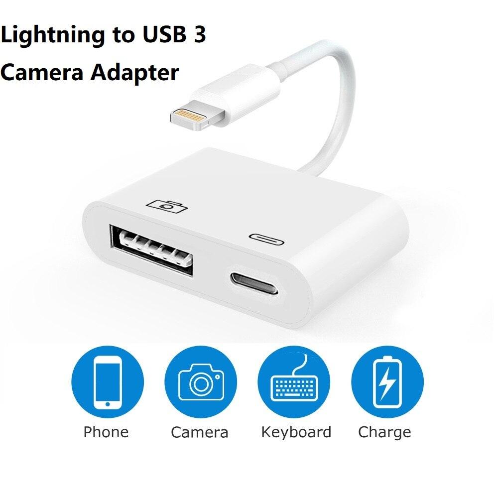Meenova lightning otg adaptador usb, hub cabo de carga para iphone ipad ios13, até 500 mah atual usb flash drive, teclado, mouse
