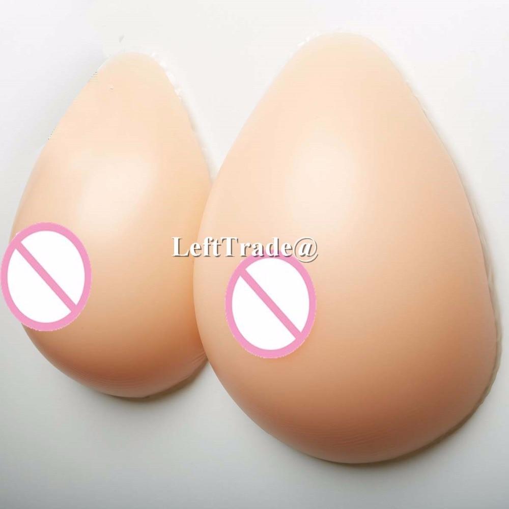 1 pair 1200g nude skin tone realistic breast forms dd cup crossdresser boobs