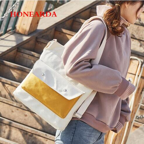 De vago viento bolsas de lona bolsas de mujeres bolso Art Fan Budou bolsa