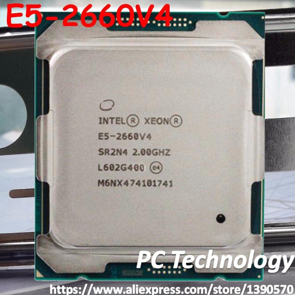 Original Intel Xeon prozessor offizielle E5 2660V4 2,0 GHZ 14 Kerne E5-2660V4 35 MB SmartCache E5 2660 V4 FCLGA2011-3 105 W E5-2660 V4