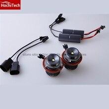 HochiTech 2 uds no error Ojos de Ángel LED marcador 7000K 20 W/set blanco para BMW E60 E61 LCI halógeno Faro no proyector