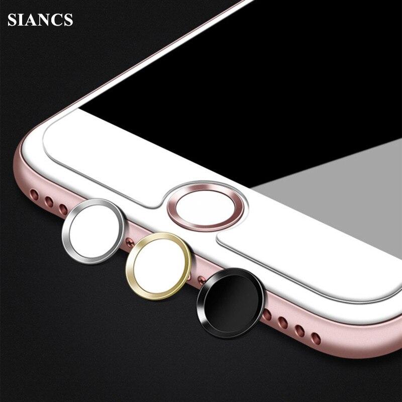 Touch ID accueil bouton protecteur autocollant clés couvre Film clavier clavier pour IPhone 5 s 6 6 s 7 Support empreinte digitale déverrouiller ID tactile