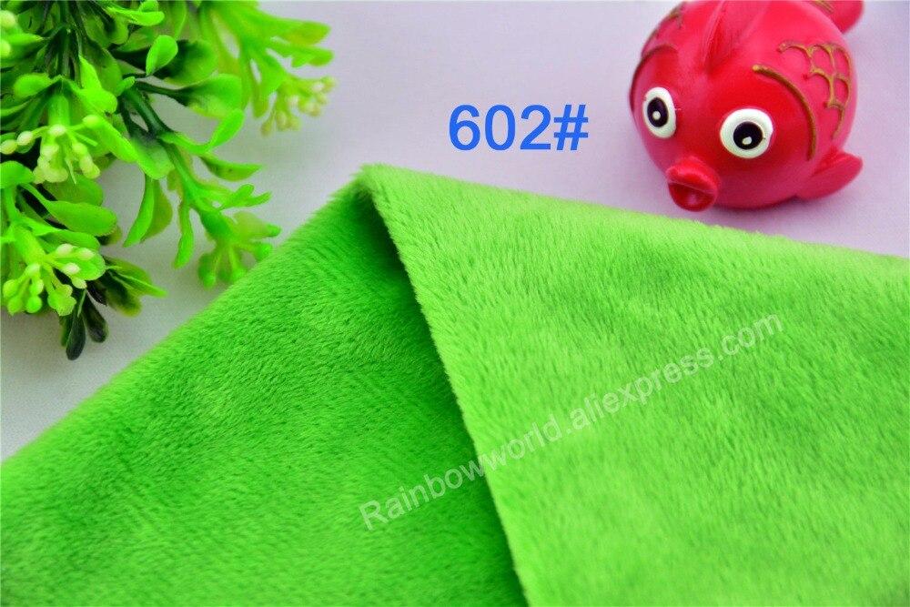 602 # verde tela de terciopelo Super suave microfibra velboa altura del pelo 2-3mm para juguete de peluche DIY almohadas (10 unidades)