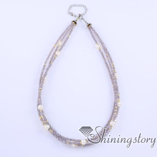 Véritable collier de perles chunky collier de perles bijoux en perles blanches bijoux de mariage pour demoiselles dhonneur