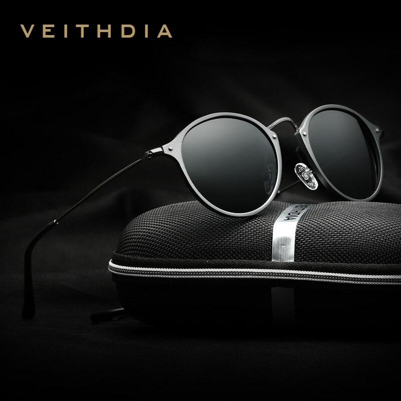 VEITHDIA поляризационные солнцезащитных очков Марка солнцезащитные мужские очки солнцезащитные мужские/женские Поляризованный Покрытие Зерк...