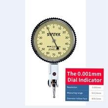 0.001mm Hendel Indicator Analoge Display Schokbestendig Dial Test 0-0.14mm Dial Indicator Gauge Meter Diameter 39.5mm mini Micrometer