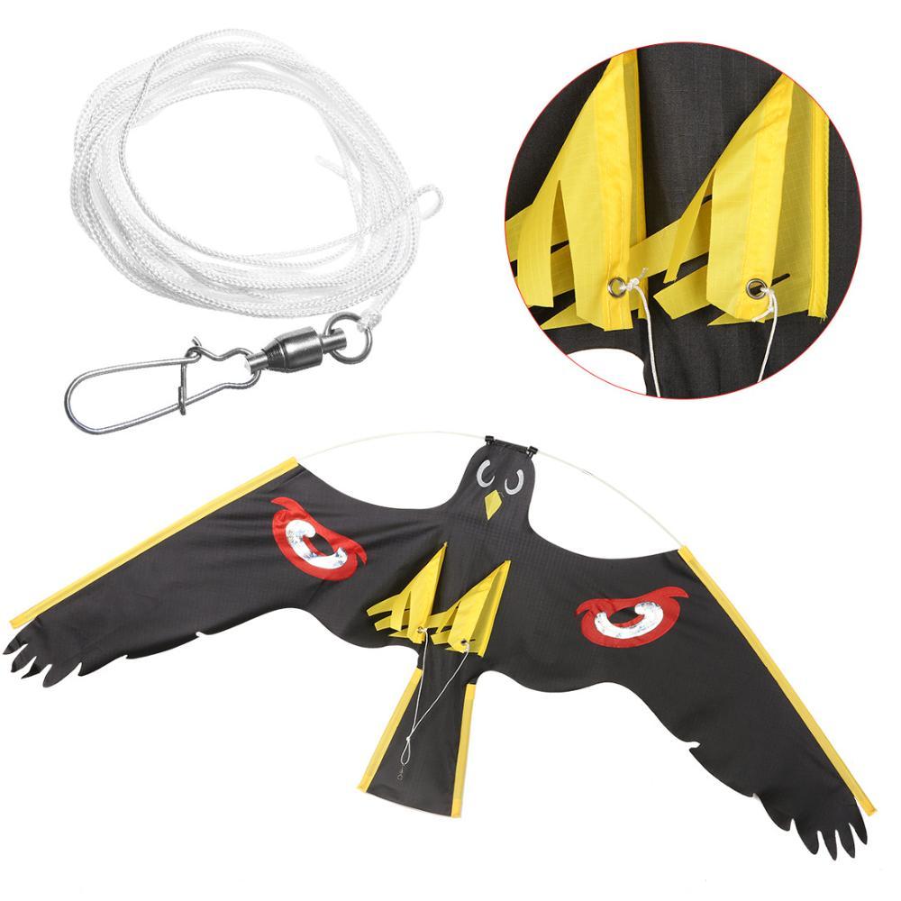 Repelente de pájaros negros con halcón volando Kite sólo suministros de jardín espantapájaros protege a los granjeros repelente de plagas Mayitr