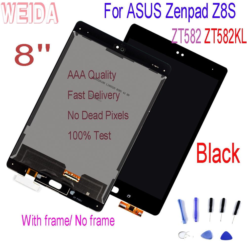 WEIDA 8 ''ل ASUS Zenpad Z8S اللوحي ZT582KL ZT582 LCD عرض لوحة اللمس شاشة محول الأرقام الجمعية مع الإطار مع أدوات