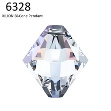 (6 pièces) 100% ORIGINAL cristal de Swarovski 6328 XILION bi-cone pendentif perles en vrac strass bricolage fabrication de bijoux