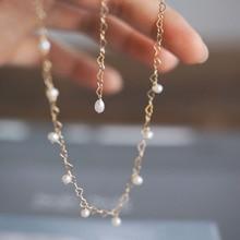 قلادات النساء الجوفاء البسيطة على شكل بيضة على شكل مجوهرات اللؤلؤ للسيدات ذات لون ذهبي سلاسل على شكل قلب قلادة للحفلات