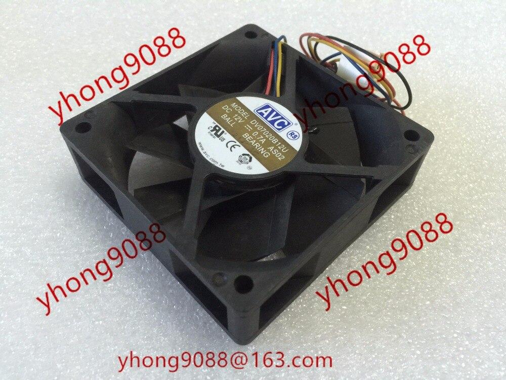 AVC DV07020B12U AS02 cc 12V 0.7A 70x70x20mm ventilador de refrigeración del servidor