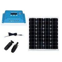 Kit Solar Panel Mobile Phone Charger 12v 50w Cargador Solar Battery Solar Charge Controller 12v/24v 10A LCD Camp RV Motorhome