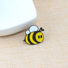 Broches de moda de dibujos animados de abeja Linda Fly Broche de insectos niños niñas accesorios de ropa negro amarillo esmalte Pin Regalo de Cumpleaños joyería