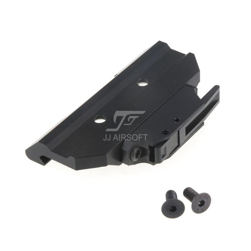 JJ Airsoft AC12033 liberación rápida/montaje QD para ACOG 4x32 Scope/punto rojo (negro/tostado)