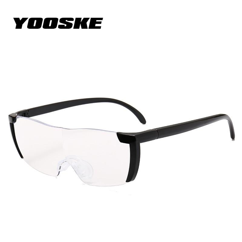 YOOSKE 1.6 times Magnifying Glass Reading Glasses Big Vision 250% Magnification Presbyopic Glasses Magnifier Eyewear