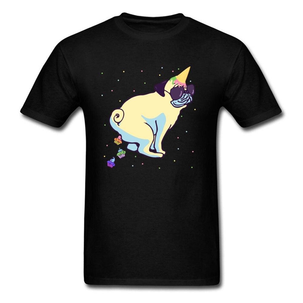 ¡Oh!Pug Unicorn Poops Cupcakes! Camiseta de hombre Camiseta superdivertido ropa fiesta de cumpleaños Tops camiseta de estudiantes Diseño novedoso
