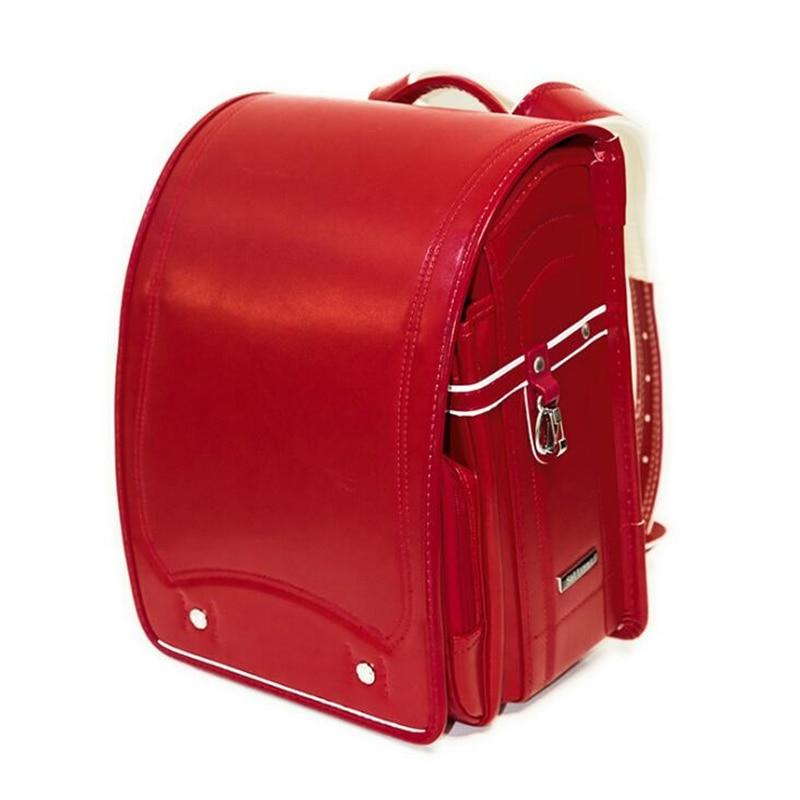 اليابان حقيبة مدرسية s للفتيات في سن المراهقة طفل العظام حقيبة مدرسية الأطفال حقيبة ظهر بجلد صناعي للبنين Bookbags اليابانية Randoseru على ظهره